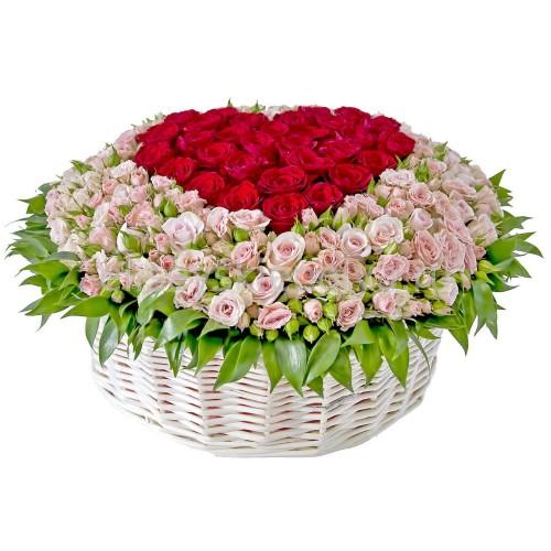 Купить на заказ Заказать Корзина с цветами 9 с доставкой по Петропавловску  с доставкой в Петропавловске