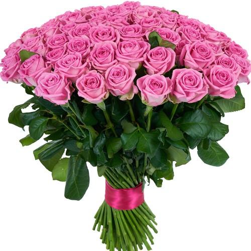 Купить на заказ Заказать Букет из 101 розовой розы с доставкой по Петропавловску  с доставкой в Петропавловске