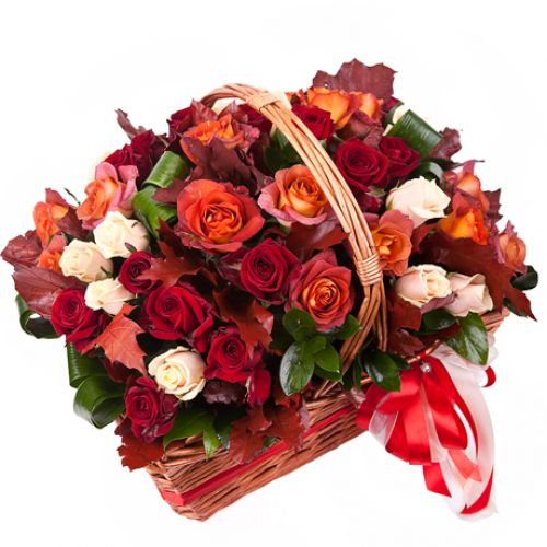 Купить на заказ Заказать Корзина с цветами 10 с доставкой по Петропавловску  с доставкой в Петропавловске