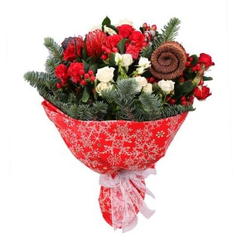 Купить на заказ Заказать Рождественский букет с доставкой по Петропавловску  с доставкой в Петропавловске