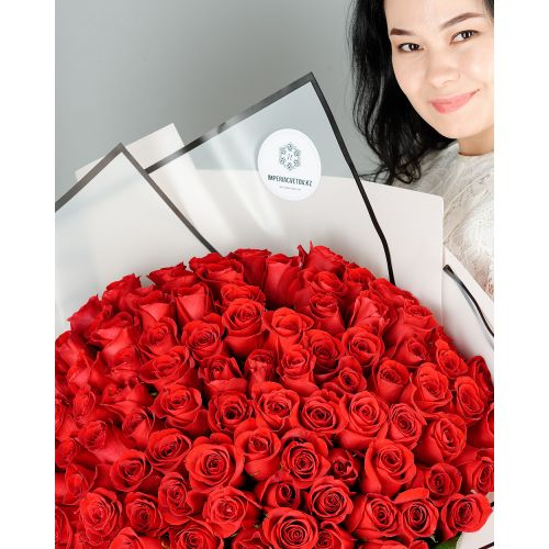 Купить на заказ Заказать Букет из 101 красной розы с доставкой по Петропавловску  с доставкой в Петропавловске