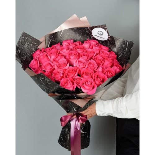 Купить на заказ Заказать Букет из 51 розовых роз с доставкой по Петропавловску  с доставкой в Петропавловске