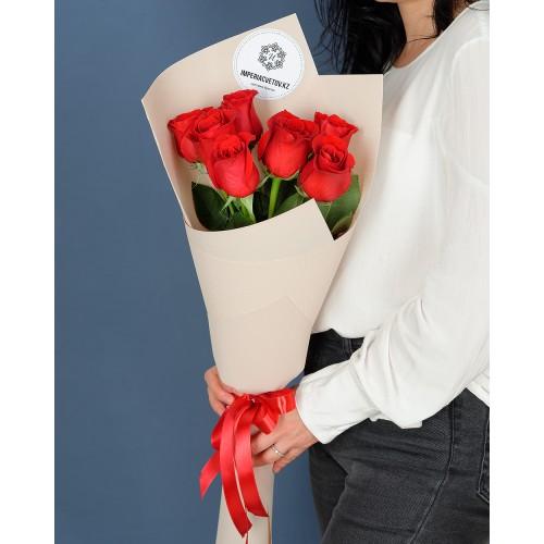 Купить на заказ Заказать Букет из 7 роз с доставкой по Петропавловску  с доставкой в Петропавловске