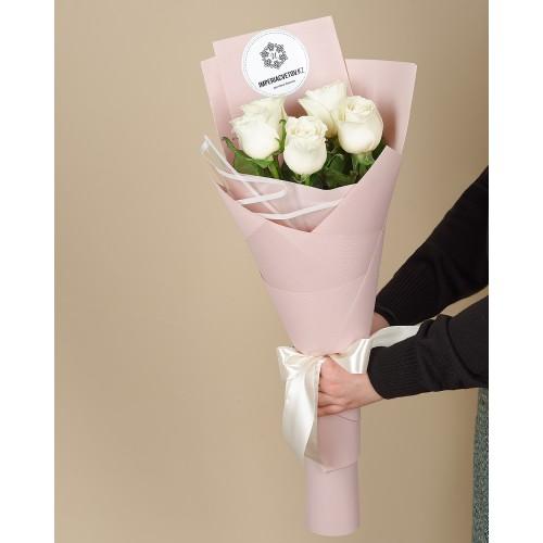 Купить на заказ Заказать Букет из 5 роз с доставкой по Петропавловску  с доставкой в Петропавловске
