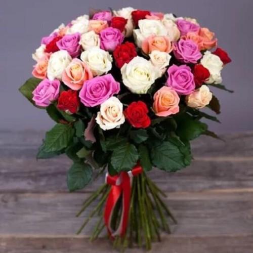 Купить на заказ Заказать Букет из 31 розы (микс) с доставкой по Петропавловску  с доставкой в Петропавловске